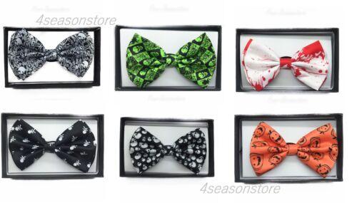 Fashion Adjustable Men Pre-tied Bowtie Necktie Halloween Bow Tie Novelty Tuxedo