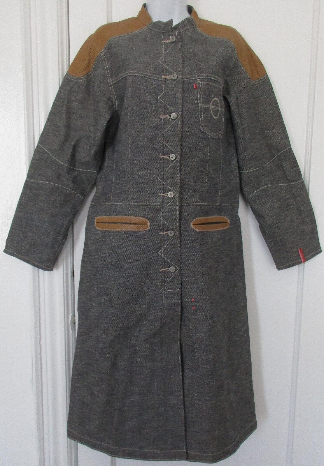KOPERHAUS Denim Coat Genuine Leather - Worn Twice - Size Large