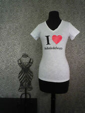 I heart Schniedelwutz (Penis/Dick) funny German T-Shirts Shirts Women #1