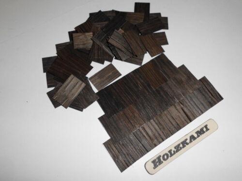 25mm x 15mm x 1mm  Rechteckig Dachschindeln Holz  Eiche Schwarz 250 Stück