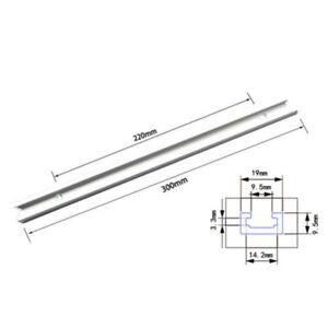 M6 M8 Nut Woodworking Tool 300-500mm Aluminium T-Track T-Slot Miter Jig Tools