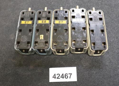KET DDR 5 Stück Mikroschalter Taster 6A 500V gebraucht