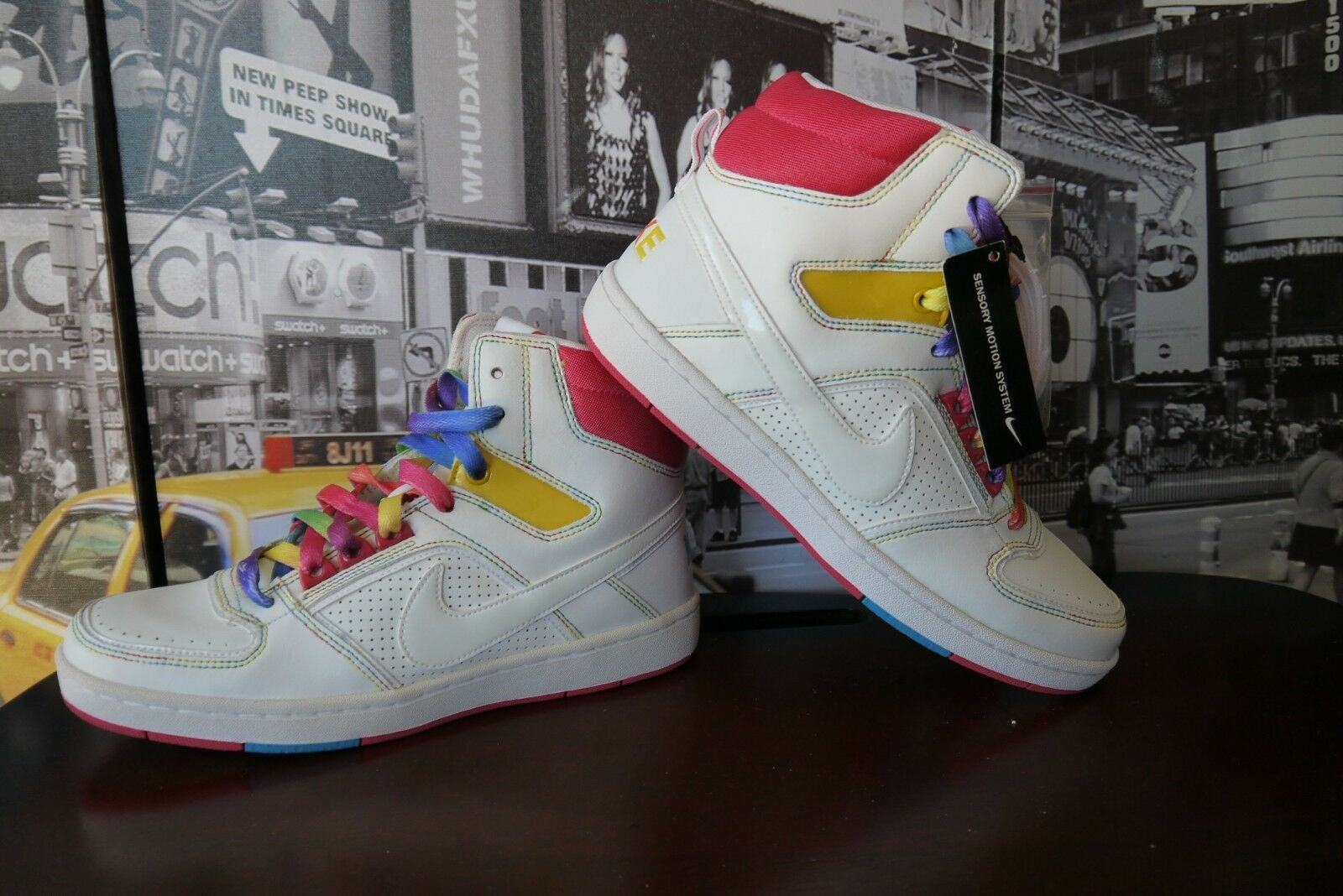 RARE Women's Nike Rainbow Delta High High High Lite DANCE Sneakers 365949 US 8   EU 39 5ed1a7