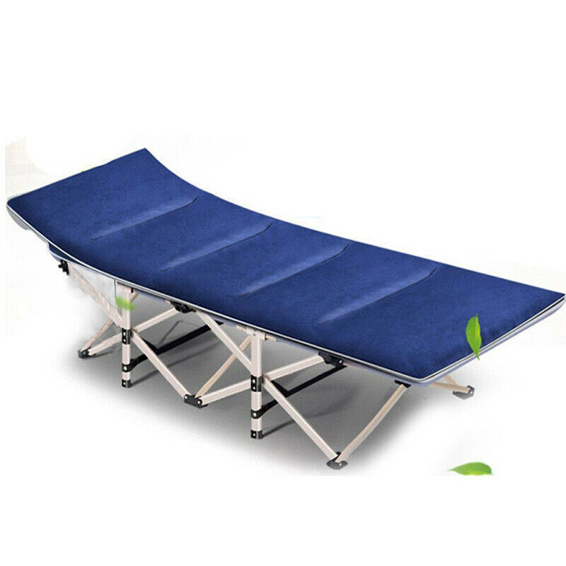 Outdoor sole Chaise Lounge Patio Camping Cot Bed spiaggia piscina fold with Cotton Mat