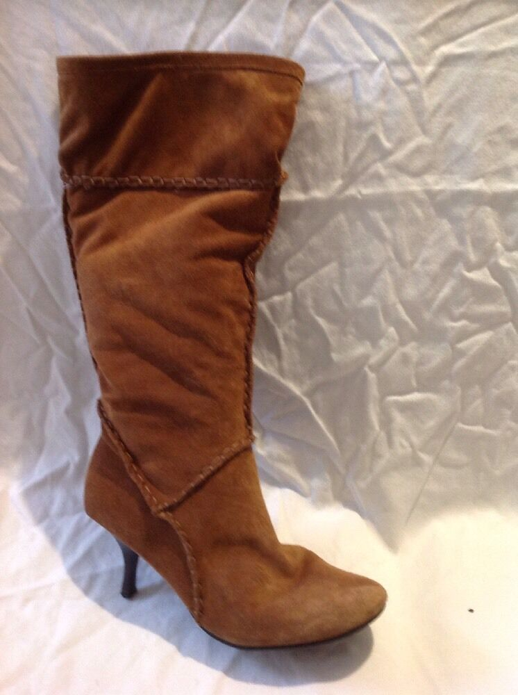 Ravel Brown Knee High Suede Boots Size 39