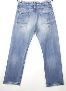 G-Star Brut Hommes Coeur Standard Slim Jeans Jambe Droite Taille W32 L32 AVZ82