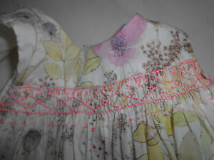 BONPOINT magnifique Robe d'été brodée main doublée 6 mois très bon état