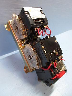 Square D 8736SCO8 Size 1 Motor Starter Reversing Contactor 120V Coil W//Overload