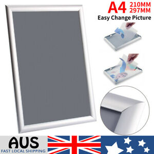 A4-Aluminum-Wall-Poster-Frame-Snap-Clip-Sign-Holder-PVC-Cover-Elevator-Billboard