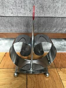 ART DECO Norman Bel Geddes Revere chrome Magazine Rack Holder années 1930 Bakélite