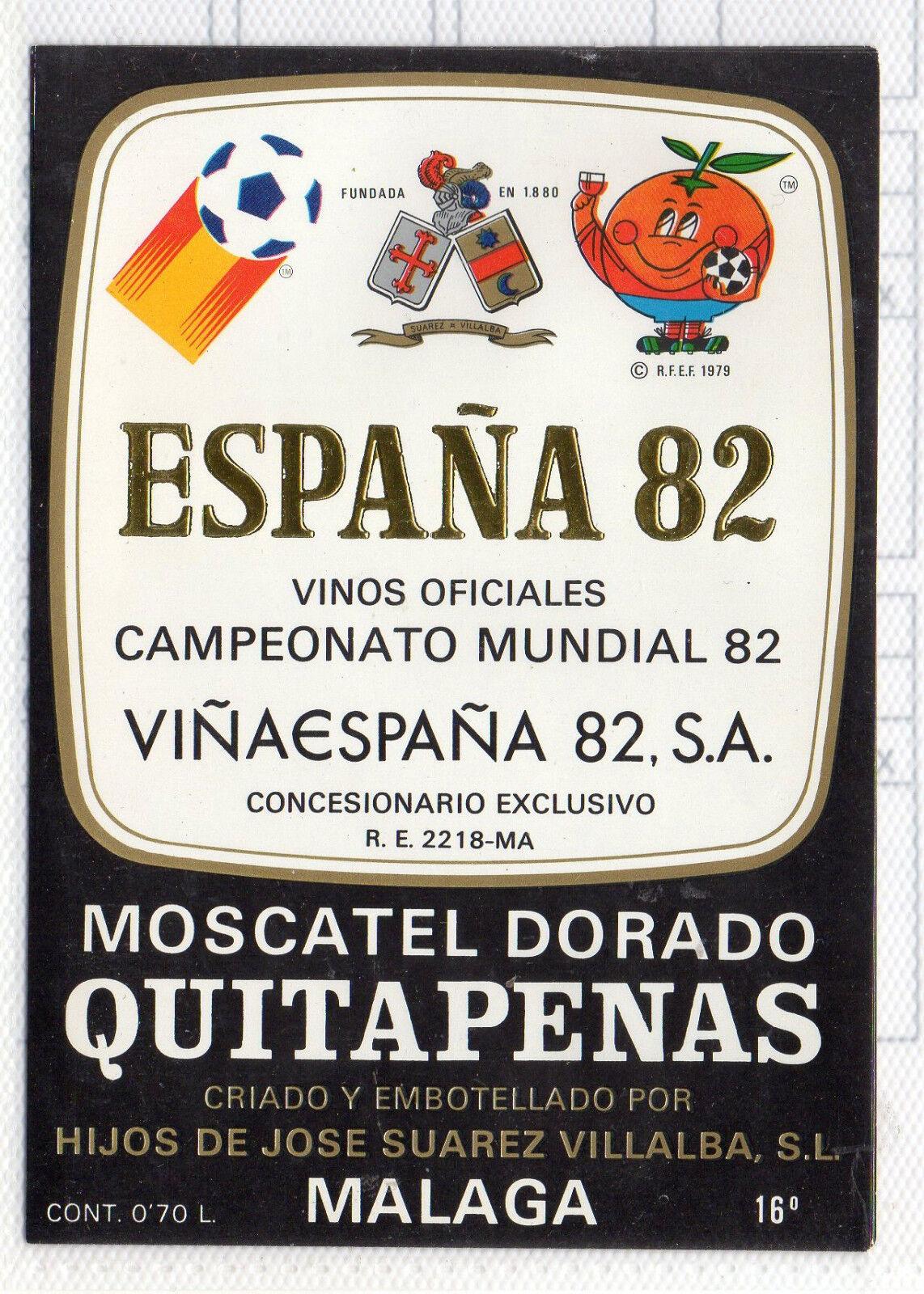 CH-209 Etiqueta de Vino Mundial Futbol España 82