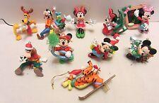 Lot of 10 Disney Christmas Ornaments Mickey, Minnie, Tigger, Goofy, Pluto