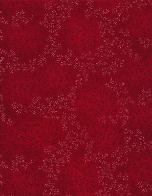 Fabric RED C4794-RED Willow Tonal Vines Timeless Treasures bty