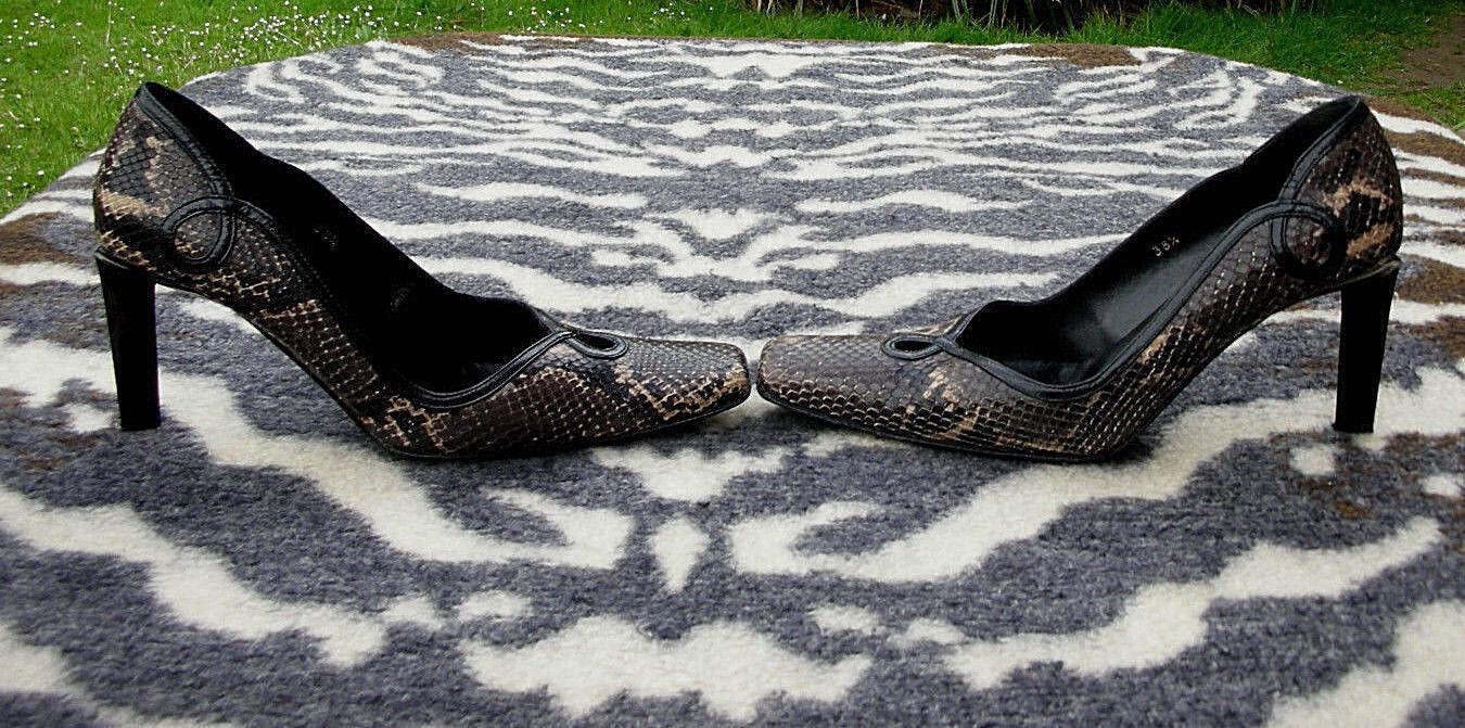 Vintage Roland UK Cartier snakeskin leather high heeled schuhe UK Roland Größe 5.5 EU 38.5 acdcf1