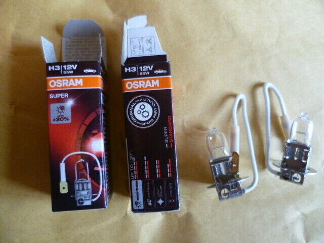 2 Lights OSRAM Super H3 12V 55W