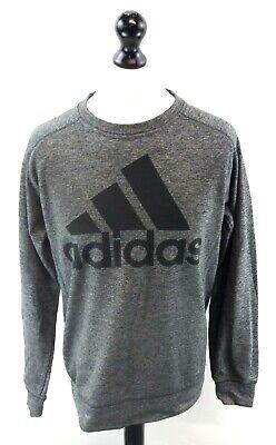 Adidas Da Uomo Maglione Pullover M Medium Grigio Poliestere-