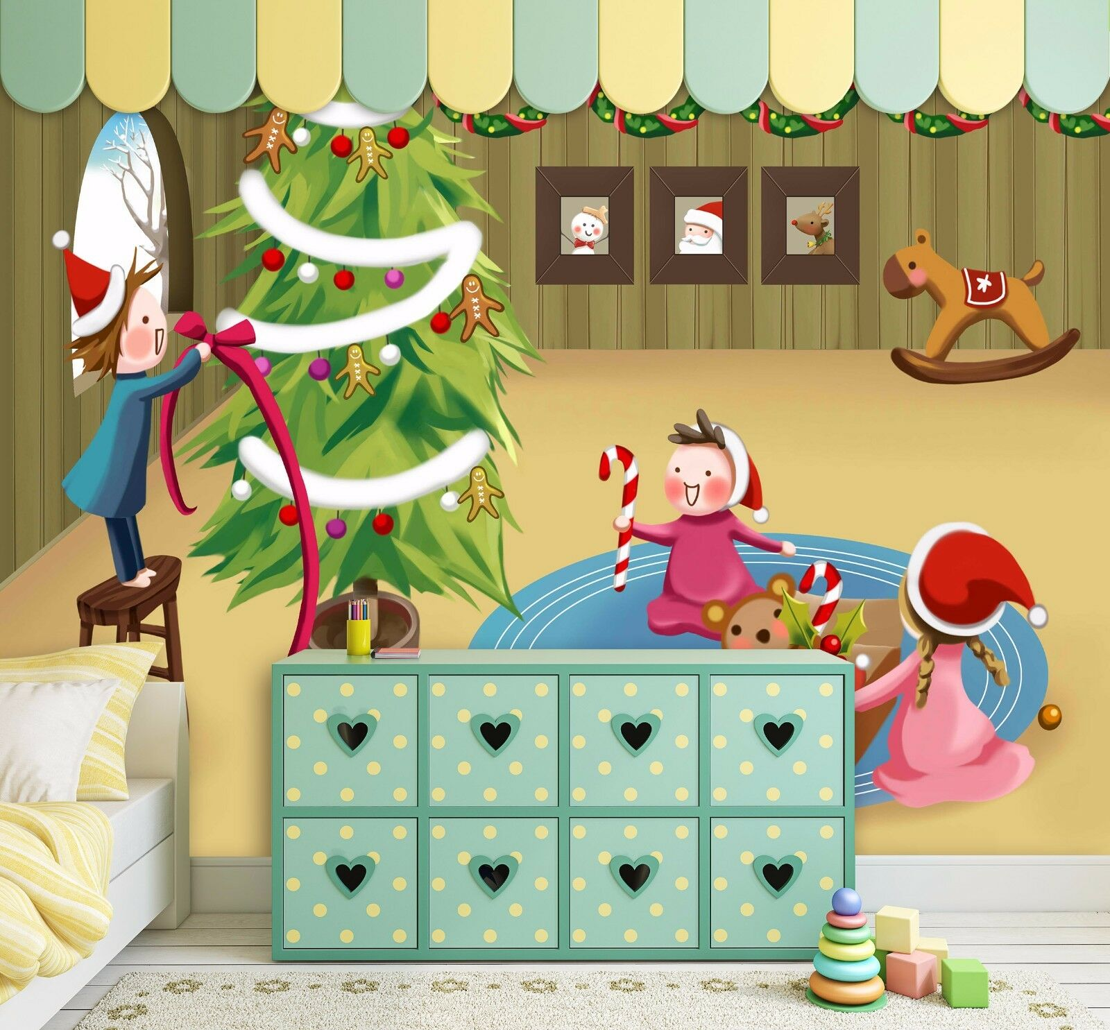 3D Happy Christmas 732 Wall Paper Murals Wall Print Wall Wallpaper Mural AU Kyra