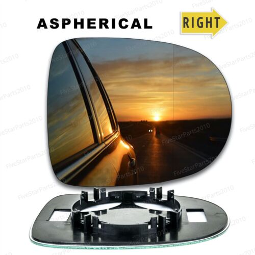 Right Driver side Wide Angle wing mirror glass for Renault Clio 2009-2012