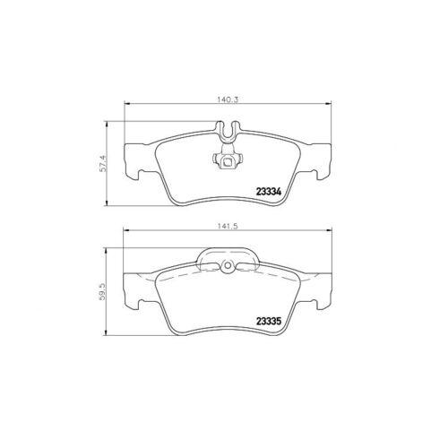 Klasse CLS SL SLK Teves-Bremse Textar Bremsbeläge hinten Mercedes-Benz E S