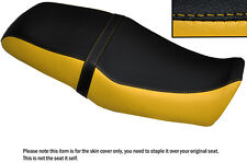 YELLOW & BLACK CUSTOM FITS YAMAHA SRV 250 DUAL LEATHER SEAT COVER