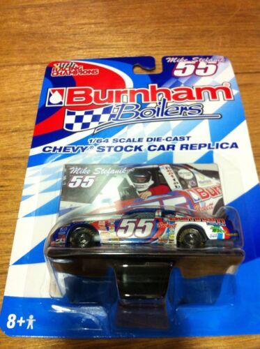 Lot of 2 cars NOS  Mike Stefanik #55 Burnham Boilers 1//64 Die-Cast 2003