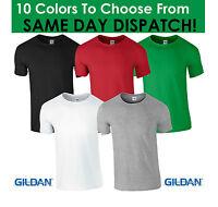 GILDAN HEAVY COTTON PLAIN T SHIRT TSHIRT WHITE BLACK GREY BLUE RED SUMMER MENS