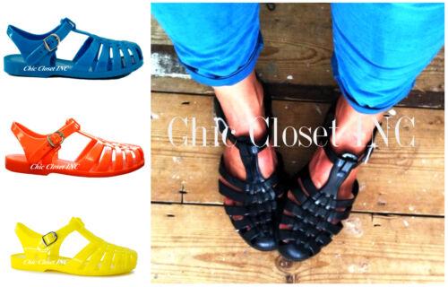 Women Low Flat Heels Gladiator Water Summer Shoes Sun Jelly Fisherman Sandals