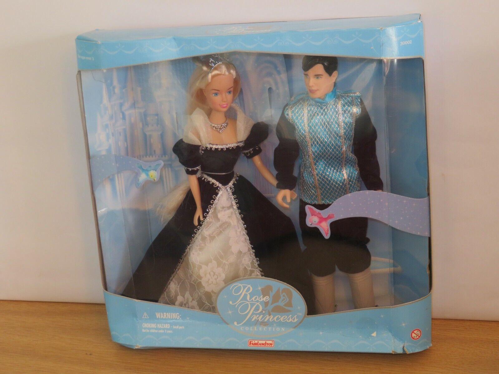 Rosa Princess Collection Dolls. Male & Female Doll.In Box. FairLandToy Rare Blau