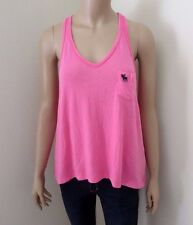 NWT Abercrombie Womens Racerback V-Neck Tank Top Size XS Pink Shirt