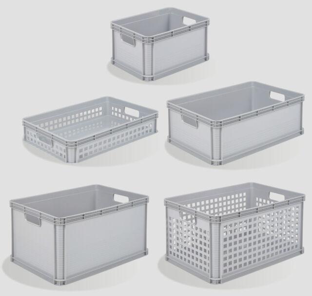 TKO 6 X 20 Litres Robusto Industrial Plastic Stacking Euro Storage