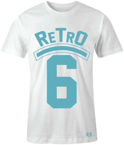 "/""Retro 6/"" T-SHIRT to Match Air Retro 6 /""Still Blue/"" GS"