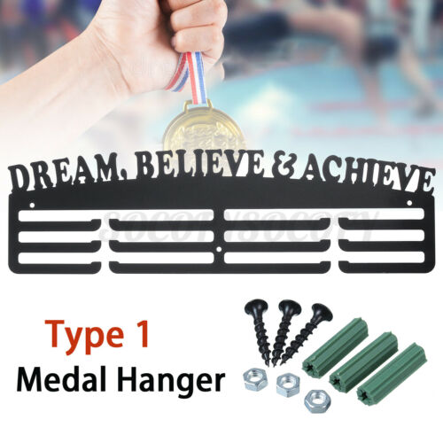 3 Tier Acrylic Personalised Medal Hanger Holder Standoffs Dream Believe  US
