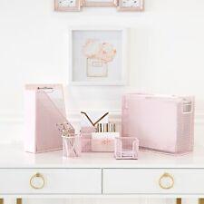 Blu Monaco Pink 5 Piece Cute Desk Organizer Set