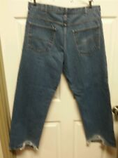 Faded Glory Mens Jeans 40 X 30 Relaxed Distressed Grunge Farmer Junker