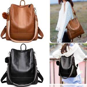 Image is loading Fashion-Women-Backpack-Travel-Shoulder-Bag-Ladies-PU- 23b561bccd