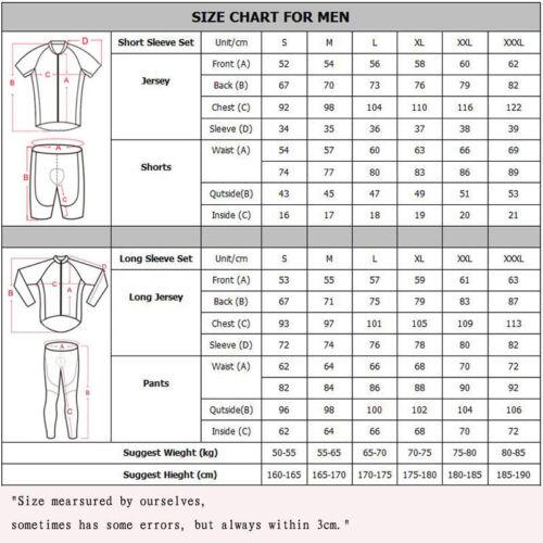 2019 Mens Sports Wear Team Cycling Jersey Sets Bike Short Sleeve bib shorts Suit