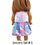 Unicorn-Top-amp-Skirt-18-034-Doll-Clothes-fits-American-Girl-dolls thumbnail 12