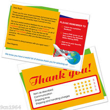 100pcs Ebay and Amazon Thank You For Your Purchase Seller Notes Card 10X7cm