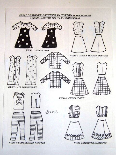 NG Creations Easy Sew Pattern #PP36 Children/'s Choice fits Barbie Doll