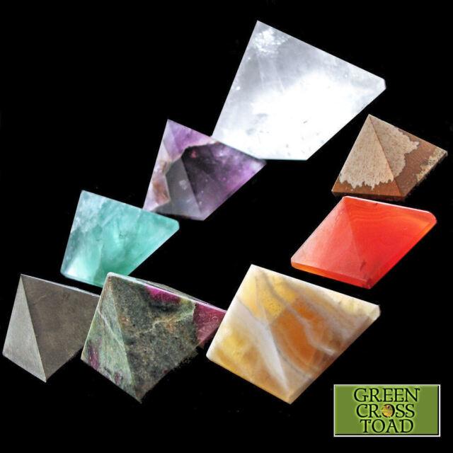 1 x Pyramid 25mm 1 Inch Crystal Gemstone Healing Orgone Reiki Feng Shui Charging