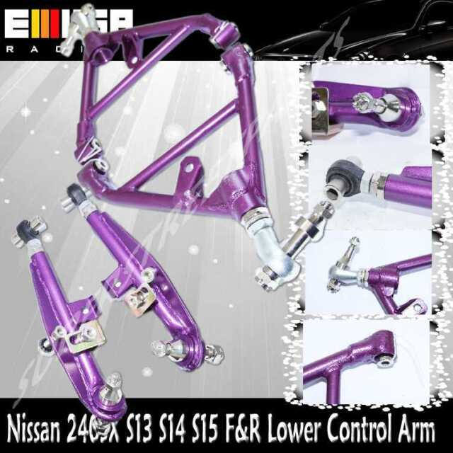 For 240SX 1995 -1998 S14 1989-1994 S13 Front&ReaAdj. Lower Control Arm PURPLE