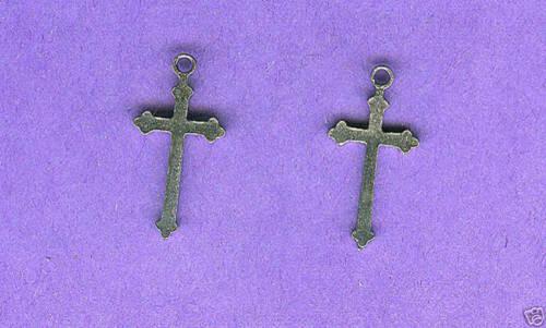 lead free pewter cross charm 1205