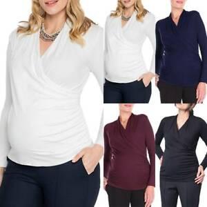 Pregnant Women Maternity Nursing Clothes Breastfeeding Winter T-Shirt Top Blouse