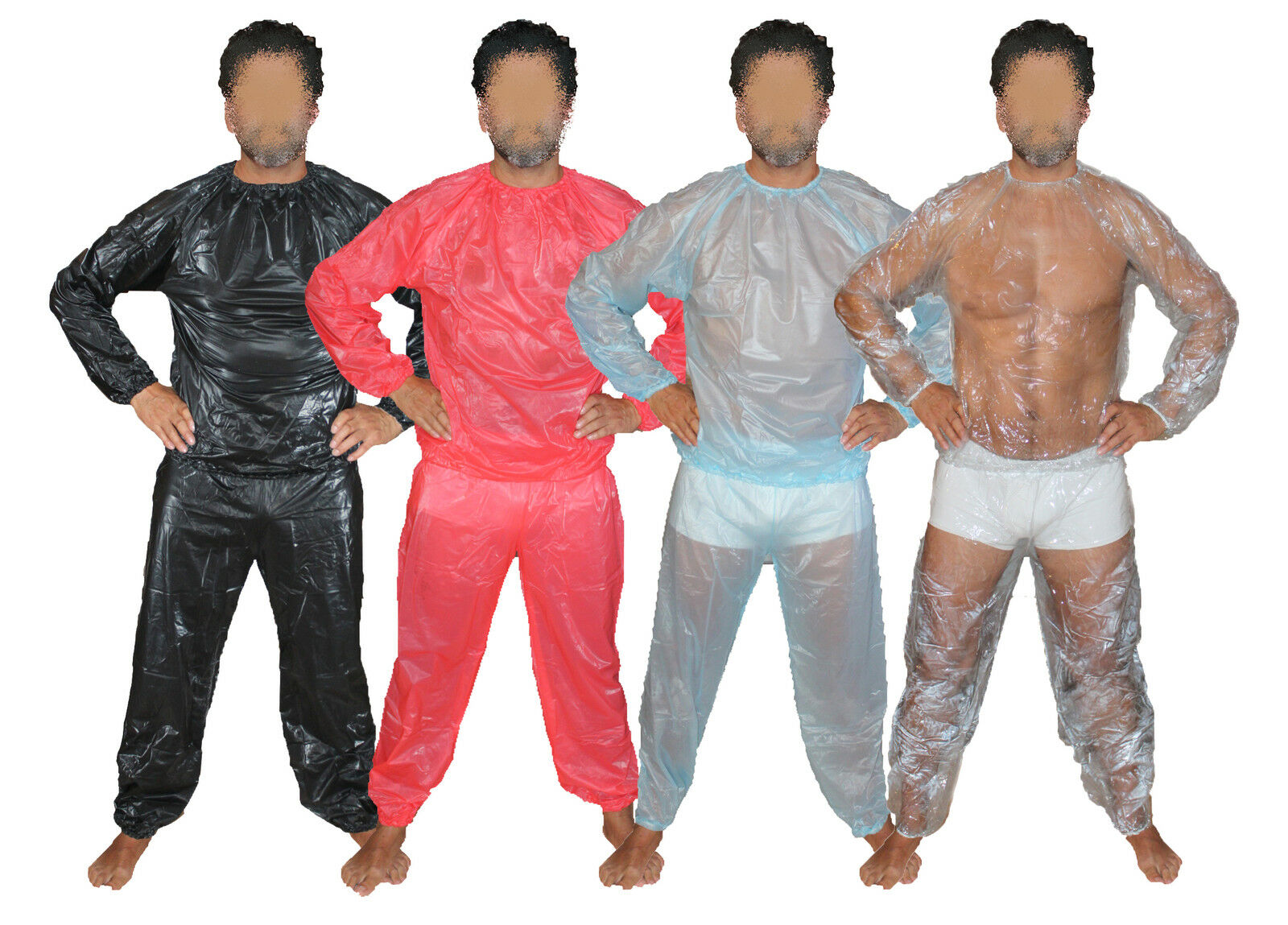 Super Soft PVC Pijama Braga-Pañal Traje Sudadero de la Sauna Sauna la Pantalones Goma a71759