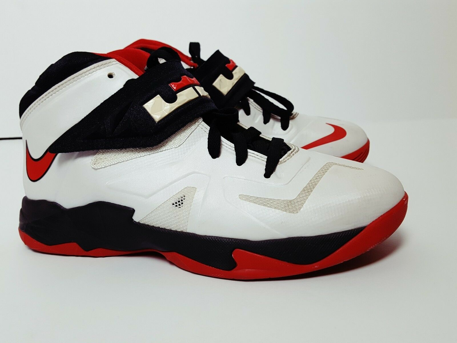 Nike Zoom Lebron Soldier VII 7 MEN'S Sz.7Y Red White Black Basketball 599264-100