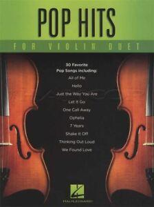 Details about Pop Hits for Violin Duet Sheet Music Book Adele Ed Sheeran  James Bay Bruno Mars
