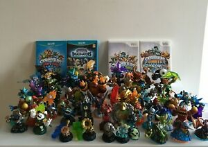 Wii Skylanders Lot Included: 45 Figurines 7 Accessories 3 Portals 4 Games Cards