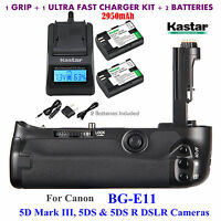 Bg-e11 Battery Grip Lp-e16 Battery, Charger For Canon 5d Mark Iii 5d3 5ds, 5ds R