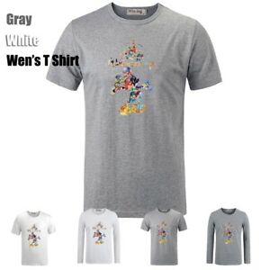 Cute-Disney-Mickey-Mouse-Graphic-Long-Short-Sleeves-Men-039-s-Boy-039-s-T-Shirt-Tee-Top
