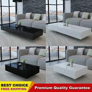 Fine Details About High Gloss Coffee Table Black White Rectangular Living Room Furniture Stylish Uk Download Free Architecture Designs Scobabritishbridgeorg